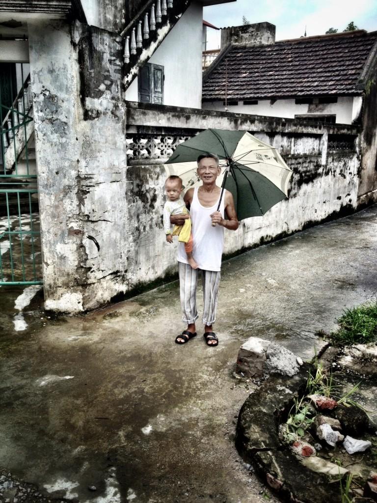 vietnamese man and child