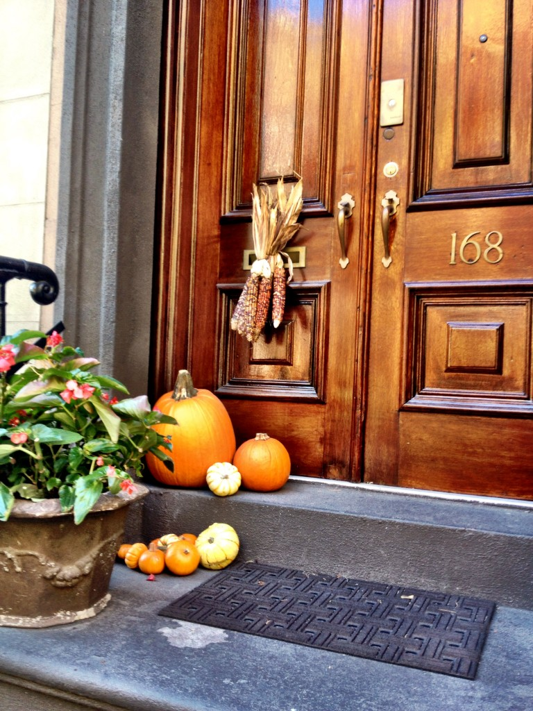 doorstep pumpkins