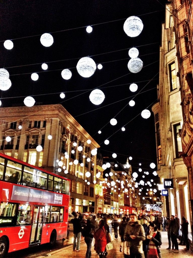 oxford street snowball lights