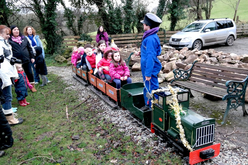 all aboard the coombe mill train
