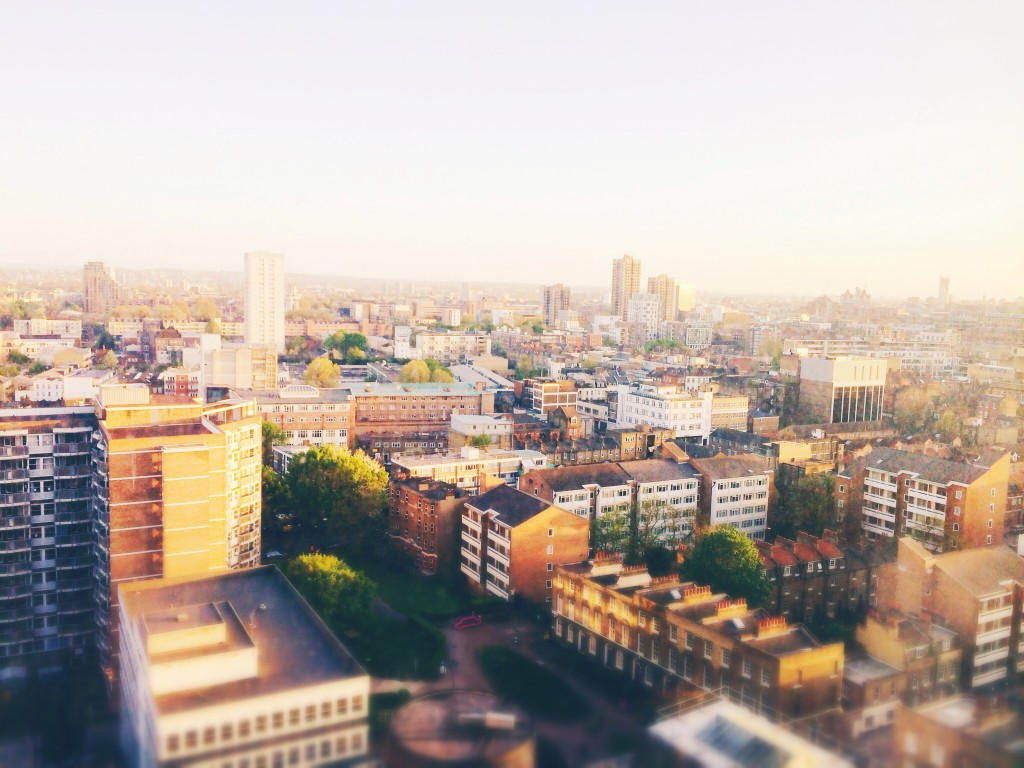 east london evening sun