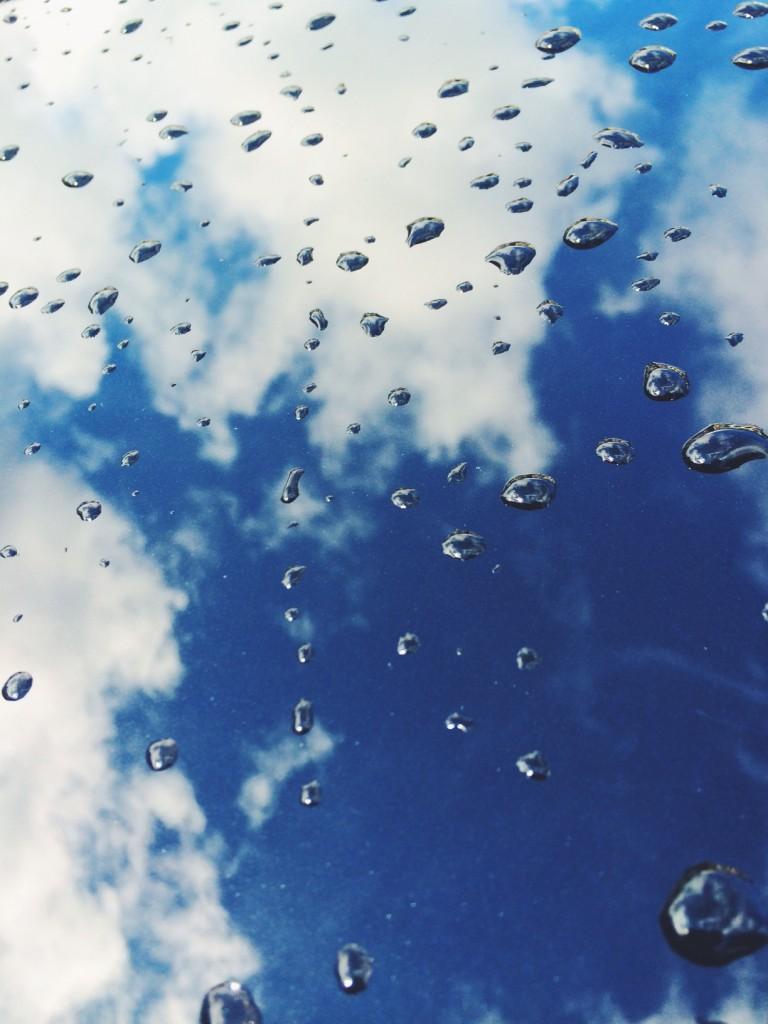 rain drops and reflection