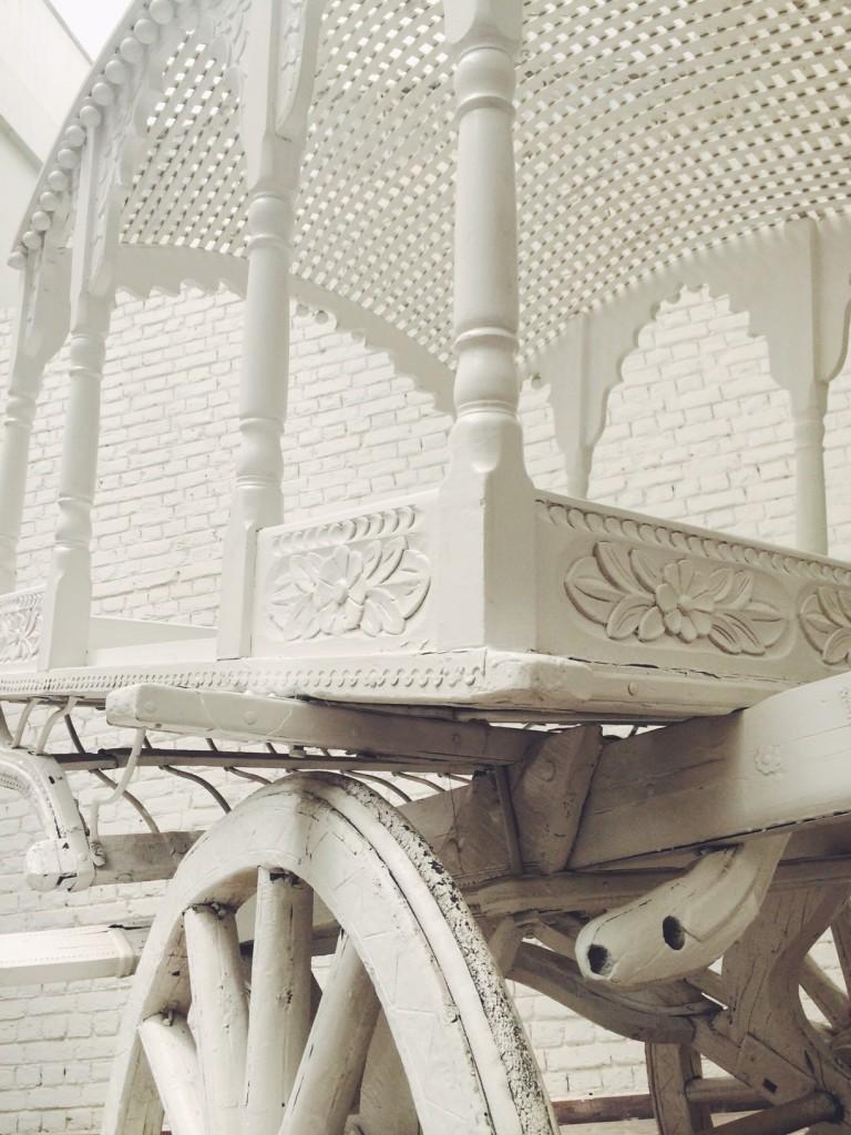 white cart