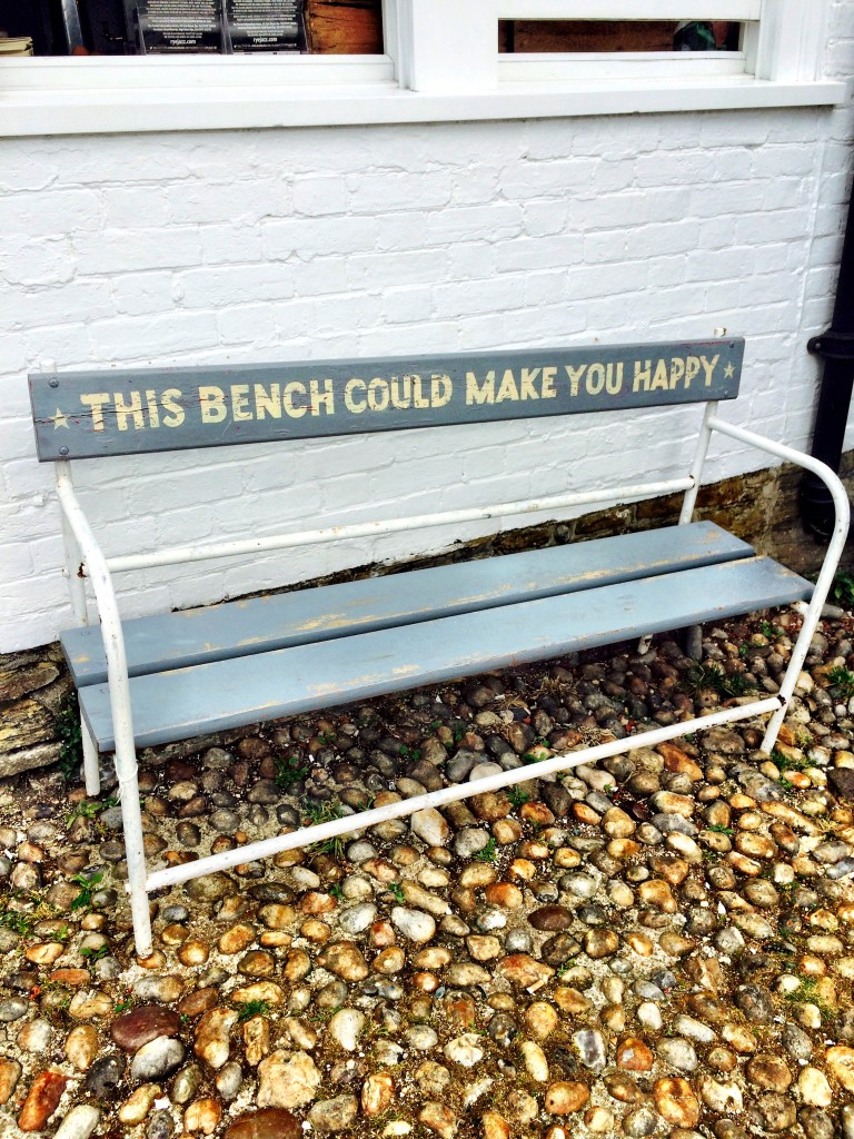 this bench could make you happy
