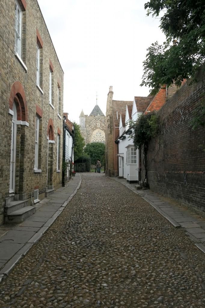 rye pebbled street