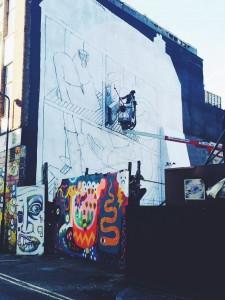 rivington street graffiti in action