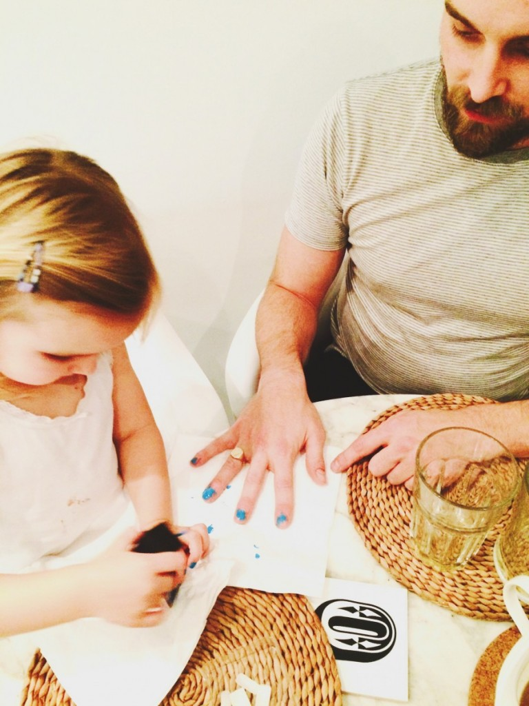 daddy's blue nails
