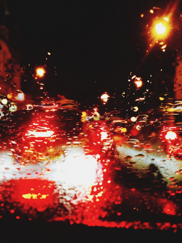 rain drop traffic lights
